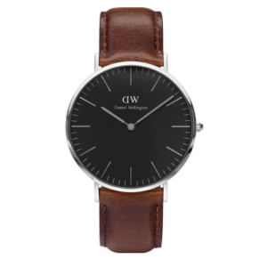 Daniel Wellington Classic Black Bristol 40mm Silver