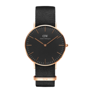 Daniel Wellington Classic Black Corwall 36mm Rose Gold