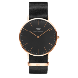 Daniel Wellington Classic Black Cornwall 40mm Rose Gold