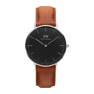 Daniel Wellington Classic Black Durham 36mm Silver