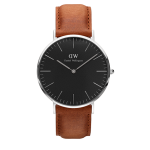 Daniel Wellington Classic Black Durham 40mm Silver
