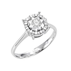 Bliss Sorprendila Anello Oro Bianco e Diamanti