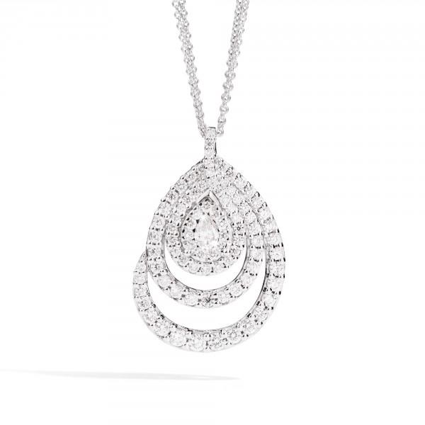 saldi nuovo stile e lusso super qualità ReCarlo Bisanzio Girocollo in Oro Bianco e Diamanti